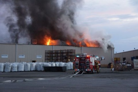 Fire that engulfed a large portion of the factory