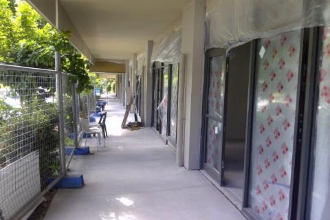 During repairs externally