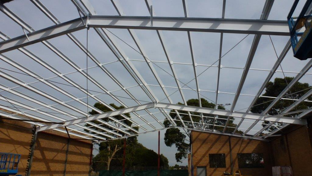 6. New roof structure complete