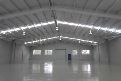 Completed brand new industrial building