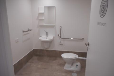 Restroom completed